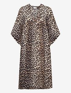 Cotton Silk - midi kjoler - leopard