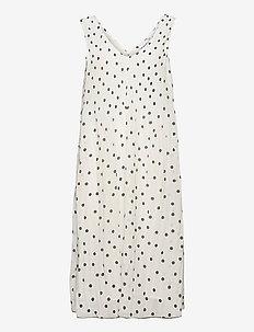 Pleated Georgette - midi kjoler - egret