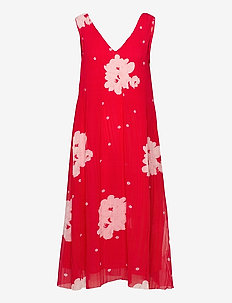 Pleated Georgette - midi kjoler - lollipop