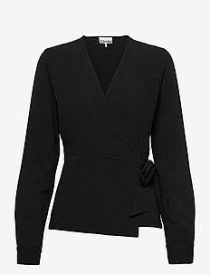 Heavy Crepe - bluzki z długimi rękawami - black