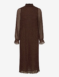 Pleated Georgette - maxi jurken - chicory coffee