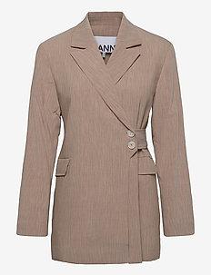 Melange Suiting - blazers - tannin