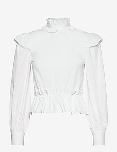 Cotton Poplin - langærmede bluser - bright white