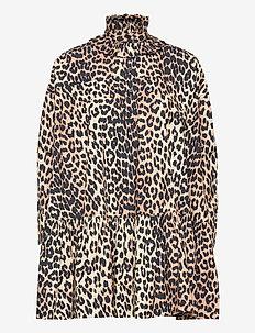 Printed Cotton Poplin - hverdagskjoler - leopard
