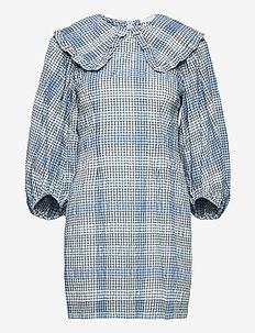 Seersucker Check - robes chemises - heather