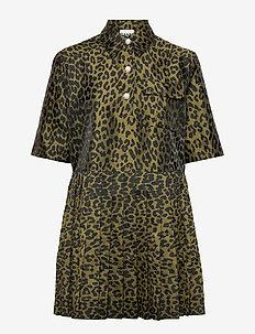 Crispy Jacquard - robes chemises - olive drab