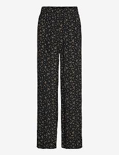 Pants - broeken med straight ben - black
