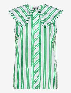 Stripe Cotton - Ärmlösa blusar - kelly green