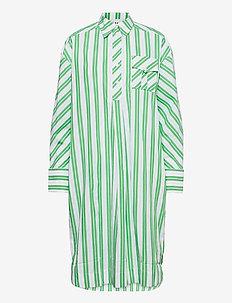 Stripe Cotton - robes midi - kelly green
