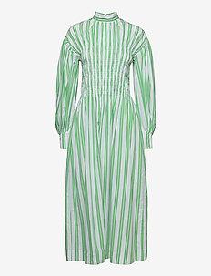Stripe Cotton - sommerkjoler - kelly green