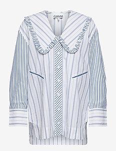 Stripe Cotton - langærmede bluser - bright white