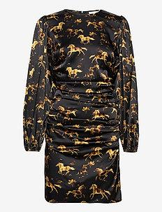 Silk Stretch Satin - korte kjoler - black