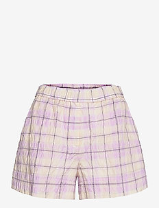 Seersucker Check - shorts casual - orchid bloom