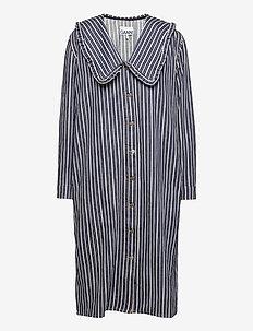 Loose Fit Shirt Dress - hverdagskjoler - dark indigo