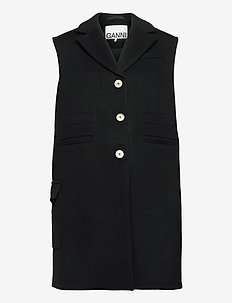 Wool - knitted vests - sky captain