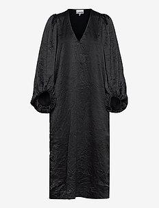 Crinkled Satin - hverdagskjoler - black