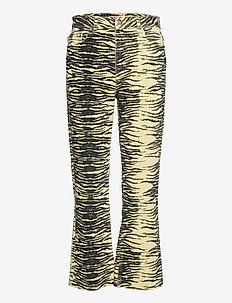 Print Denim - boot cut jeans - pale banana