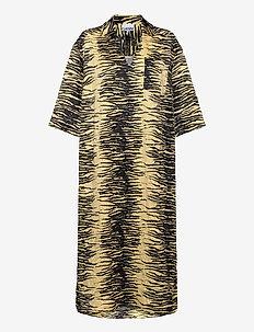 Crinkled Satin - robes d'été - pale banana
