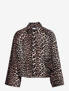 Linen Canvas - plonos striukės - leopard