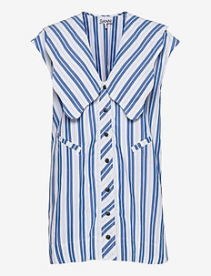 Stripe Cotton - ermeløse bluser - daphne