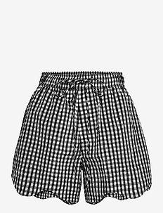 Seersucker check - casual korte broeken - black