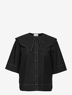 Cotton Poplin - chemises en jeans - black
