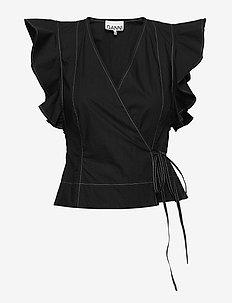Cotton Poplin - Ærmeløse bluser - black