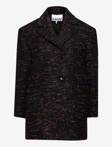 Multi Wool - oversize blazers - black