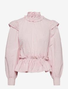 Cotton Poplin - langermede bluser - pale lilac