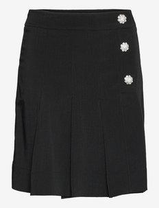 Melange Suiting - midi skirts - black