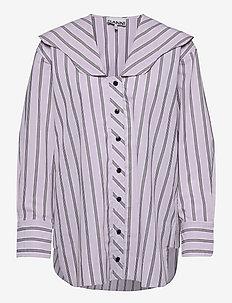 Stripe Cotton - chemises en jeans - misty lilac