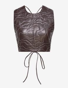 Lamb Leather - crop tops - mole