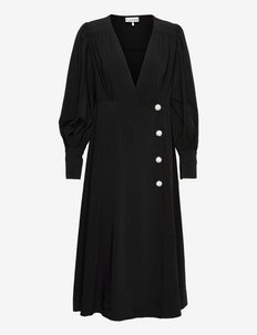 Melange Suiting - slå-om-kjoler - black