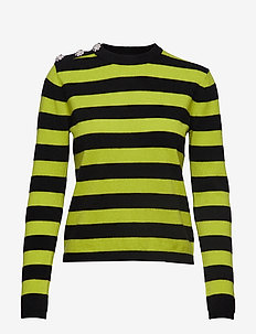 Cashmere Knit Pullover - NEON MAIZE