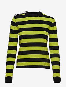 Cashmere Knit Pullover - kaszmir - neon maize