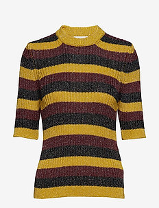 Lurex Striped Knit - BLOCK COLOUR