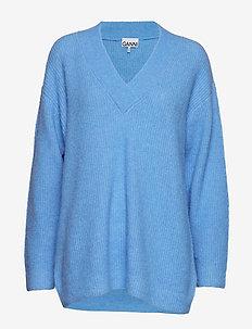 Soft Wool Knit - tröjor - azure blue