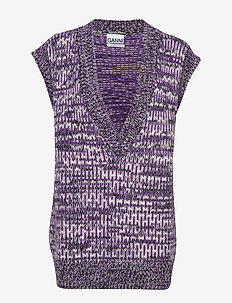 Hand Knit Wool - DEEP LAVENDER