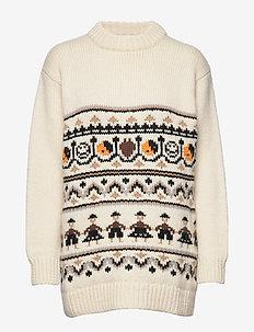 Hand Knit Wool - EGRET