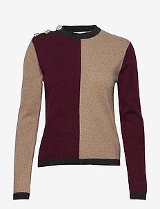 Cashmere Knit - kaszmir - block colour