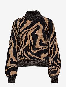 Hand Knit Wool - tröjor - black