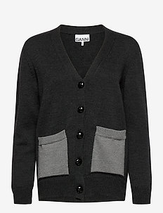 Wool Knit - cardigans - phantom