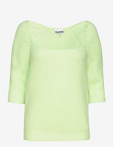 Soft Wool Knit - neulepuserot - patina green