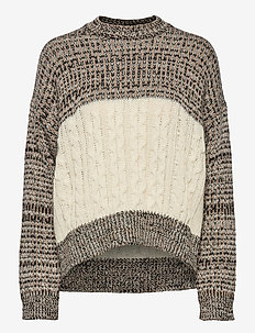 Heavy Melange Knit - pullover - tannin