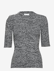 Melange Knit - tröjor - black