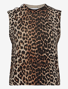 Print Knit - vester - leopard