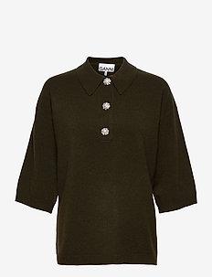Cashmere Knit - kortærmede skjorter - kalamata