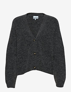 Soft Wool Knit - vesten - ebony melange