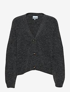 Soft Wool Knit - cardigans - ebony melange