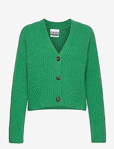 Rib Knit - cardigans - foliage green